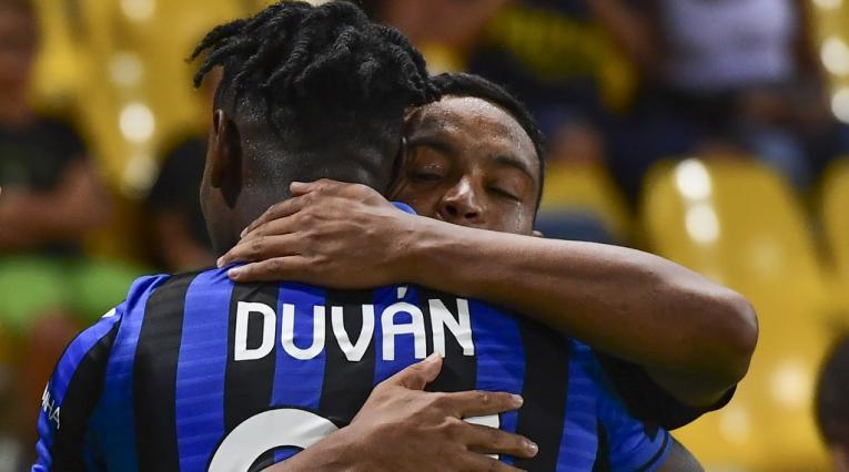 Duván Zapata y Luis Fernando Muriel en Atalanta