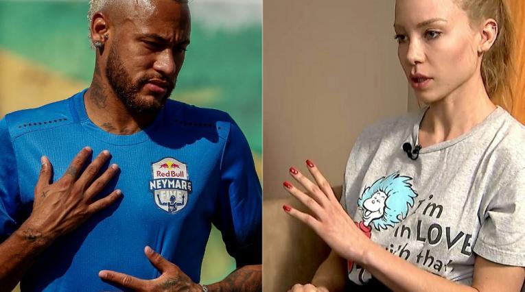 Neymar y la modelo que lo acusó de violación
