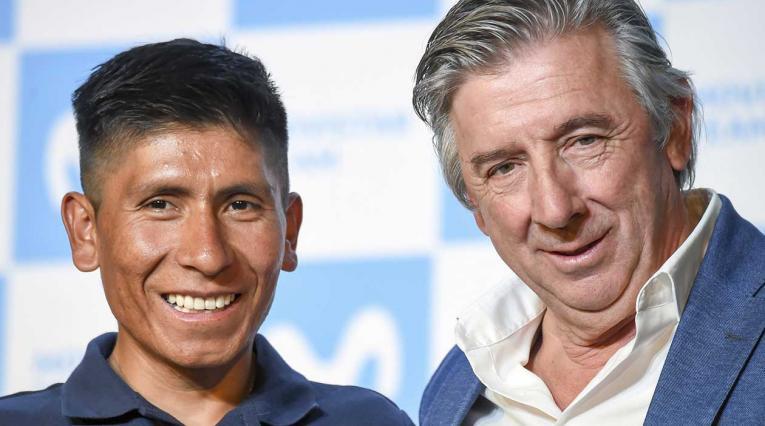 Nairo Quintana y Eusebio Unzue