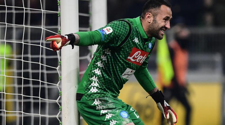David Ospina regresó al arco de Napoli