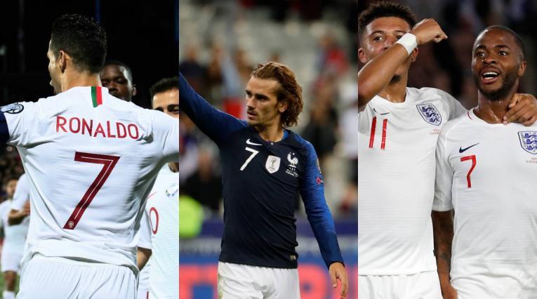 Portugal, Inglaterra y Francia