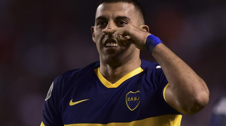 Wanchope Ábila, delantero de Boca Juniors