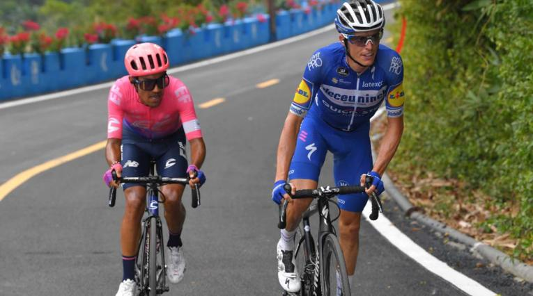 Daniel Felipe Martínez, segundo del Tour de Guangxi, por detrás de Enric Mas