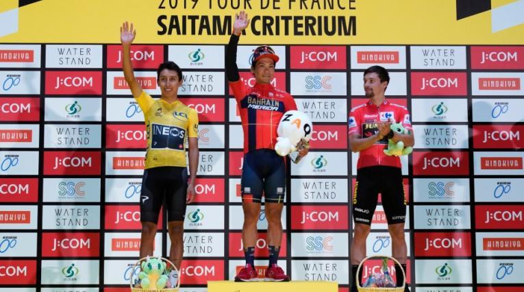 Egan Bernal, podio en el Critérium de Saritama (Japón)
