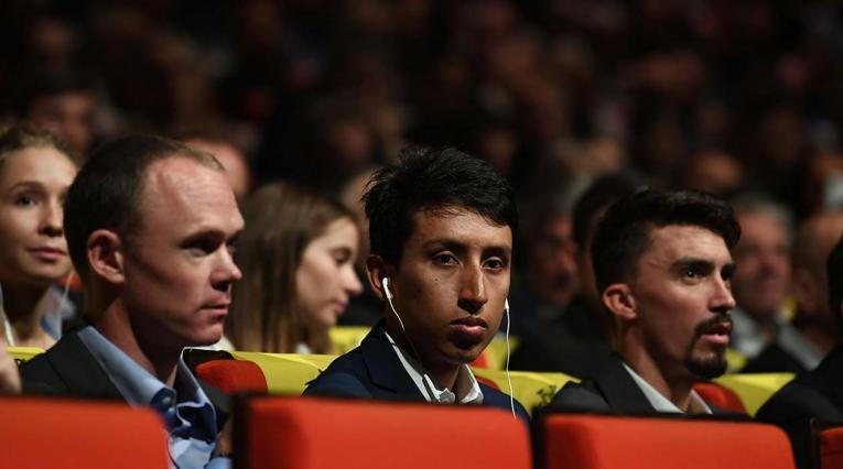 Chris Froome, Egan Bernal y Julian Alaphilippe