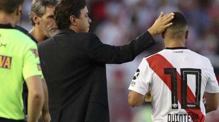 Marcelo Gallardo y Juan Fernando Quintero