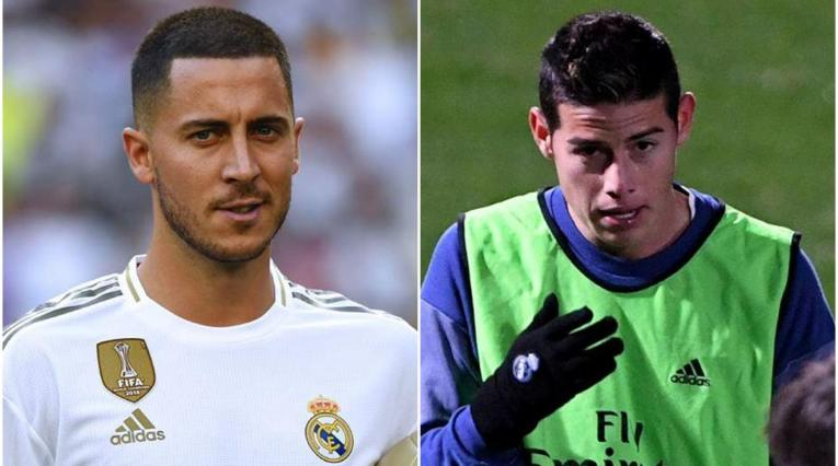 Eden Hazard y James Rodríguez