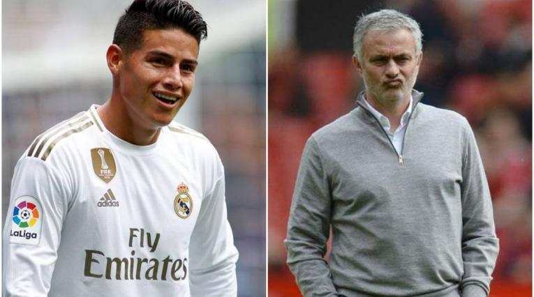 James Rodríguez y Mourinho