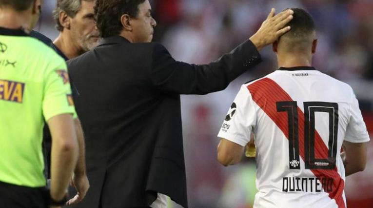 Marcelo Gallardo y Juan Fernando Quintero en River Plate