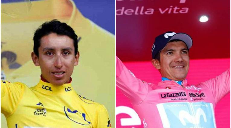 Richard Carapaz y Egan Bernal
