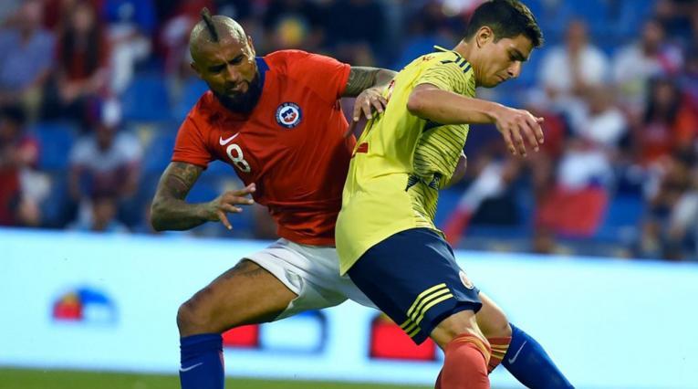 Colombia vs Chile amistoso - Stefan Medina