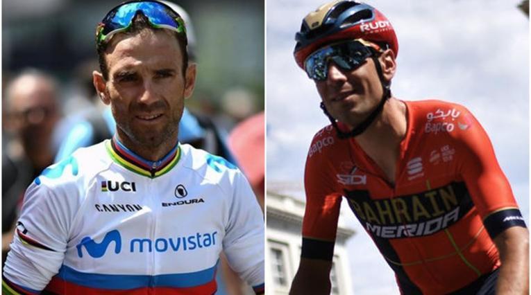 Alejandro Valverde y Vincenzo Nibali
