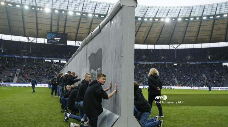 Muro de Berlín en el estadio de Hertha