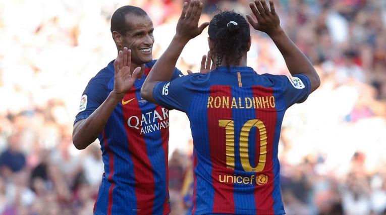 Rivaldo y Ronaldinho. Leyendas del FC Barcelona