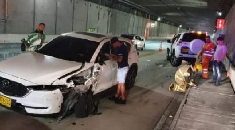 Accidente en el que se vio involucrado el jugador Jarlan Barrera