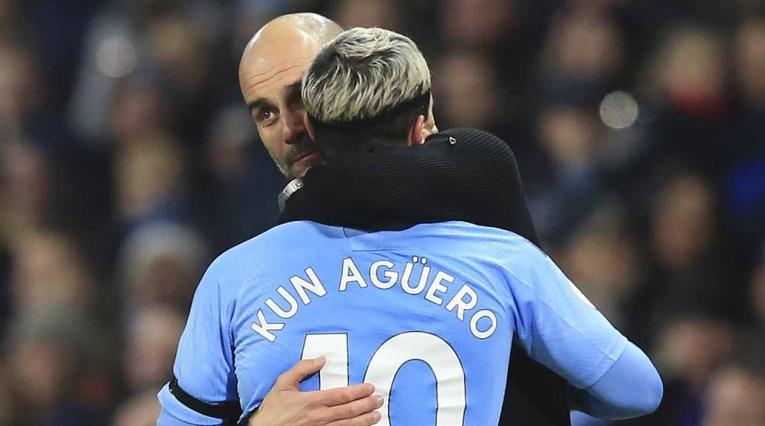 Agüero y Guardiola, Manchester City
