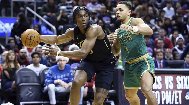 Celtics sorprenden a campeones Raptors en la NBA