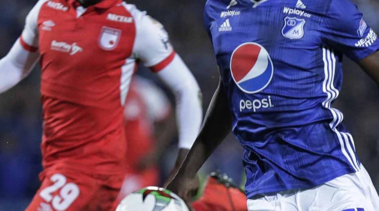 Santa Fe y Millonarios - fútbol colombiano
