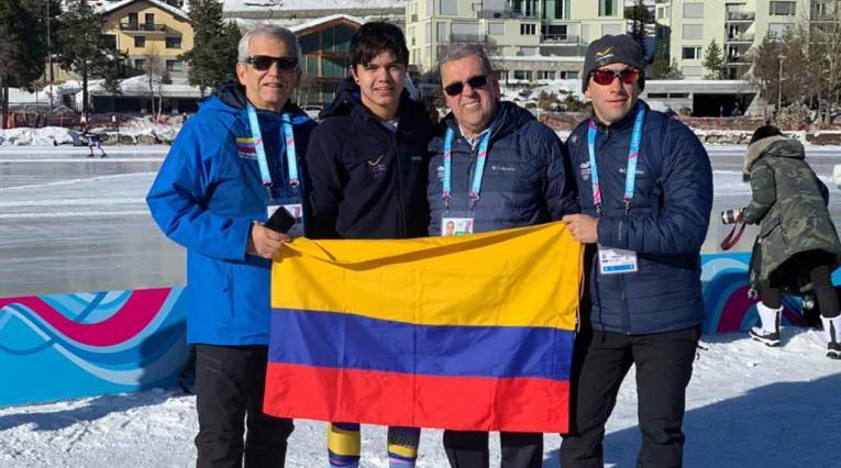 Diego Amaya fue cuarto en Juegos Olímpicos de Invierno de la Juventud