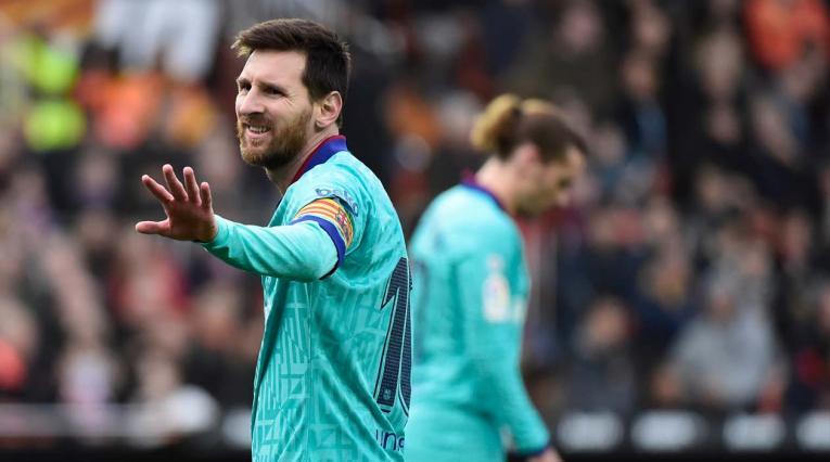 Lionel Messi y Griezmann en el Barcelona