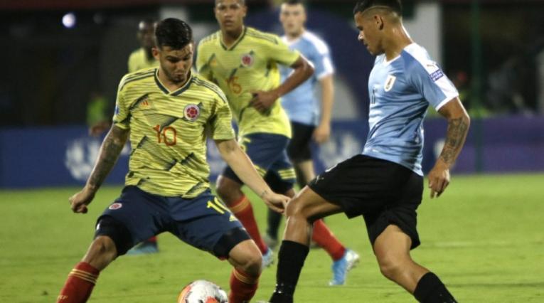 Selección Colombia Sub-23 vs Uruguay en el Preolímpico