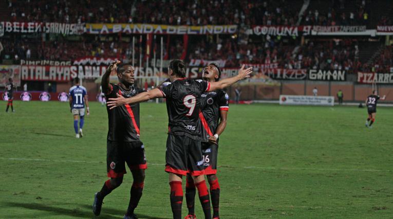 Cúcuta Deportivo. Jugadores celebrando un gol