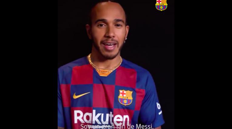 Lewis Hamilton, FC Barcelona