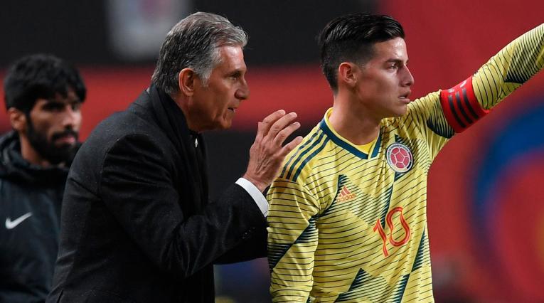 James Rodríguez, Carlos Queiroz, Selección Colombia