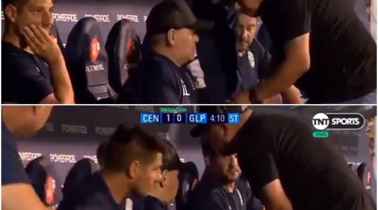 Diego Maradona, video Gimnasia de La Plata