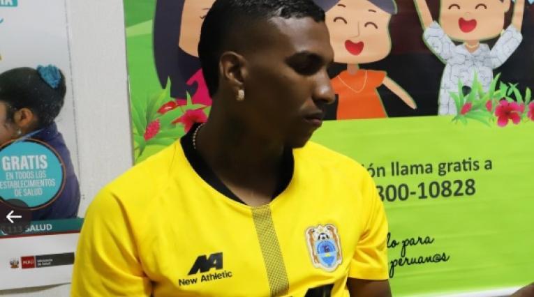 Johan Arango, futbolista colombiano del Binacional de Perú.