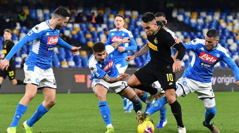 Semifinal Nápoles-Inter es aplazado por coronavirus
