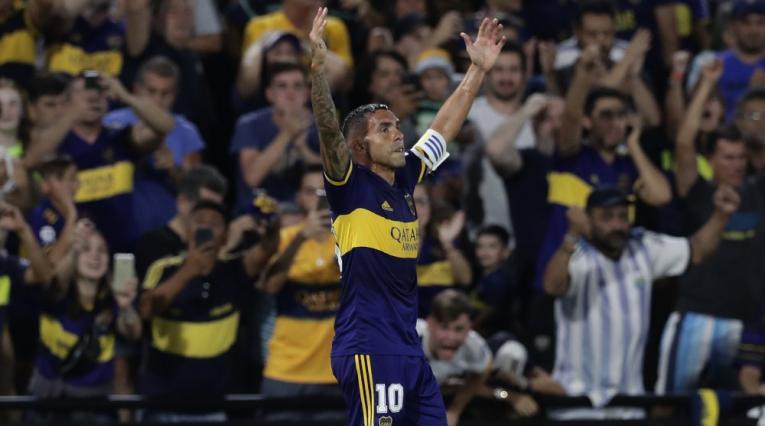 Carlos Tévez, autor del gol de Boca campeón