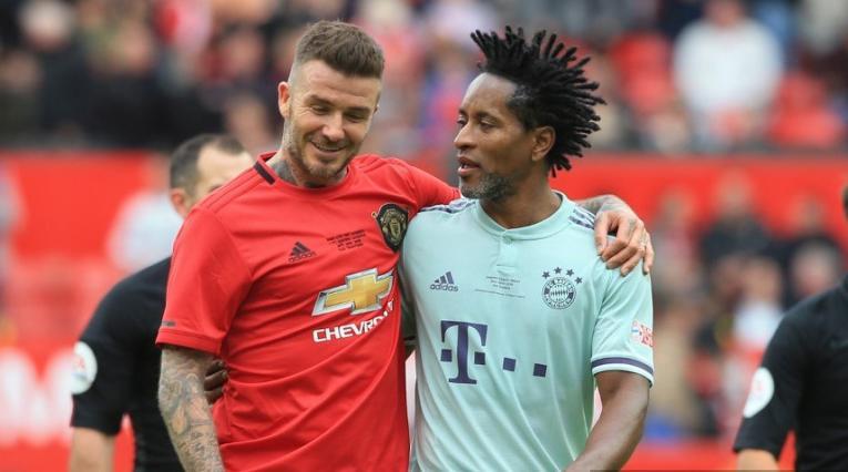 Ze Roberto y David Beckham