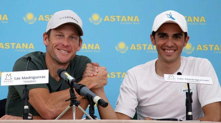 Armstrong y Alberto Contador