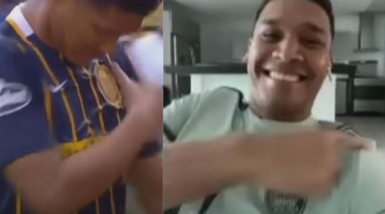 Teo Gutiérrez y una polémica celebración a los hinchas de Boca