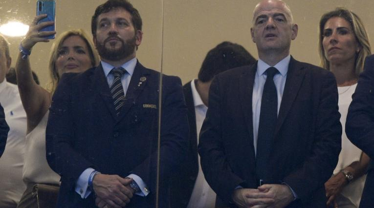 Alejandro Domínguez (Conmebol) y Gianni Infantino (FIFA)