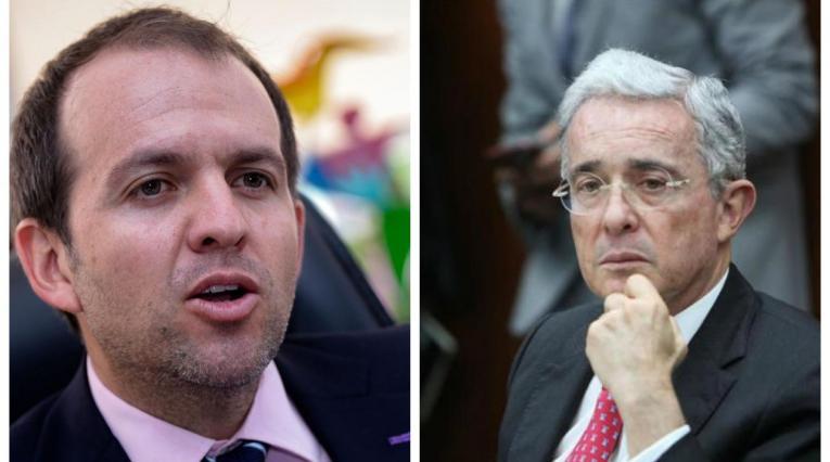 Ernesto Lucena y Álvaro Uribe