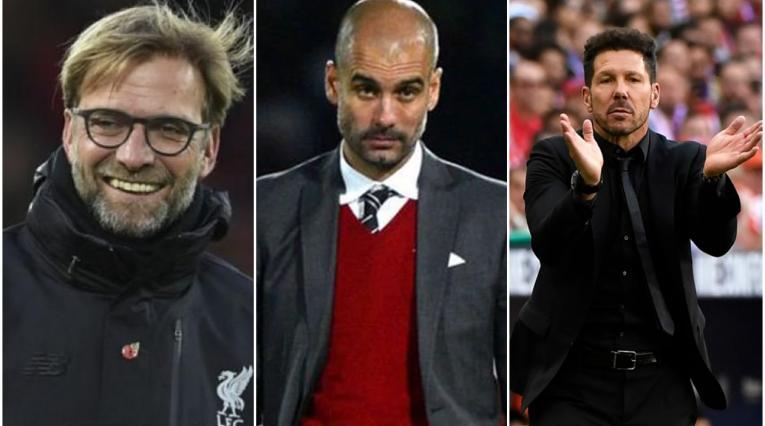 Klopp, Guardiola y Simeone