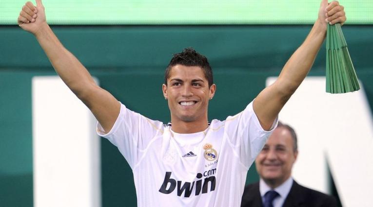 Cristiano Ronaldo, presentación en el Real Madrid en el año 2009