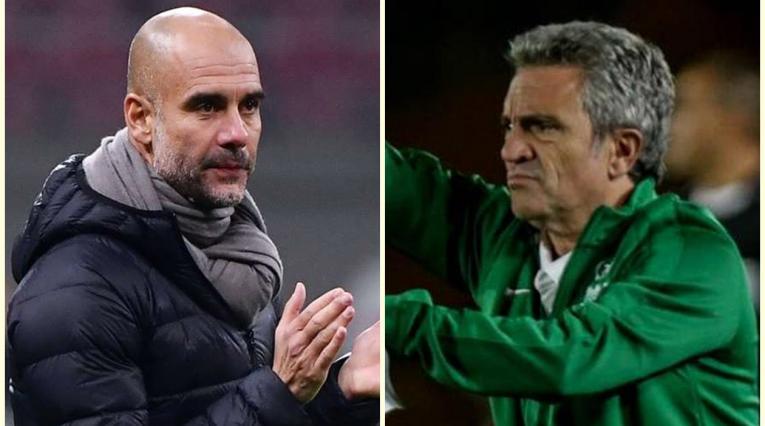 Pep Guardiola y Juan Manuel Lillo