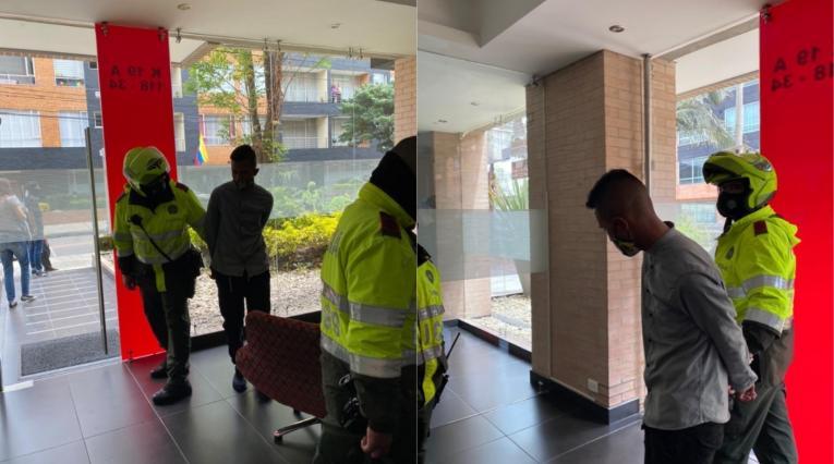 Policías detienen a ladrón en Usaquén