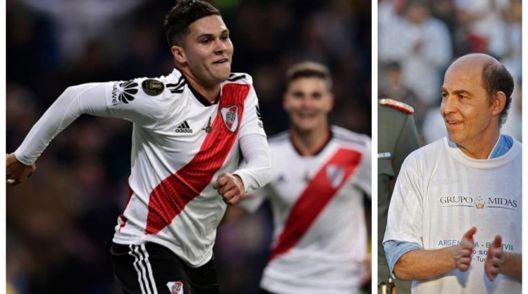 Juan Fernando Quintero y Ricardo Bochini