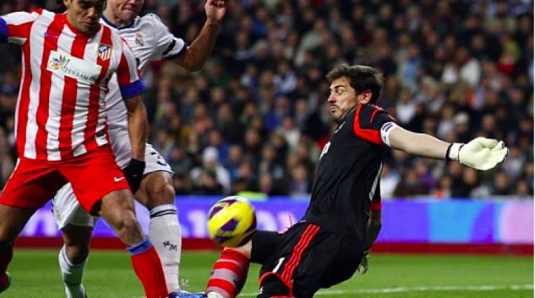 Falcao y Casillas en la Liga Española