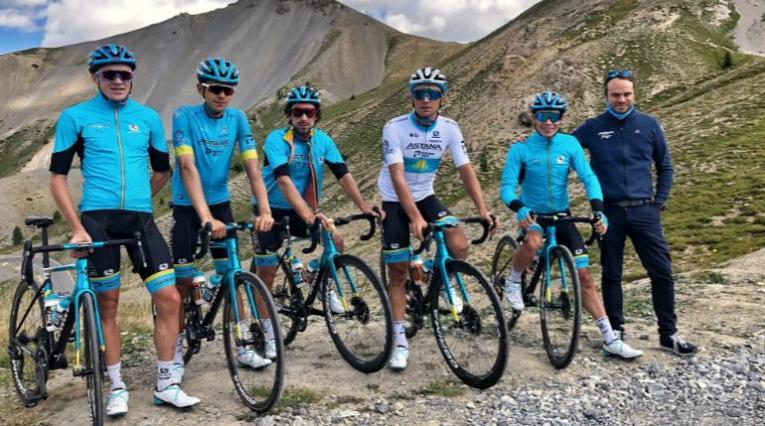 Harold Tejada con el Astana