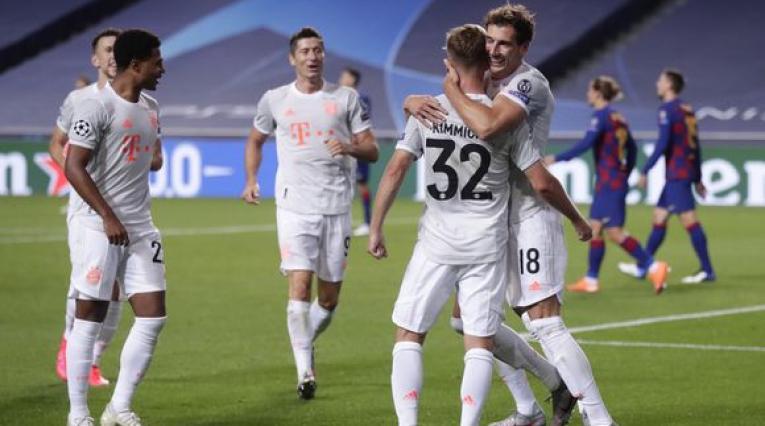 Bayern Múnich goleó al Barcelona en Champions