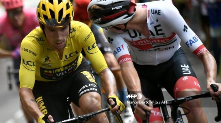 Roglic y Pogacar, en el Tour de Francia