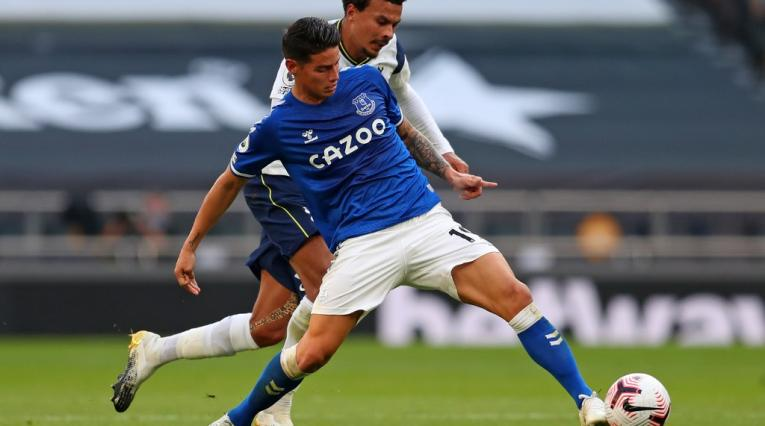James Rodríguez, Tottenham vs Everton
