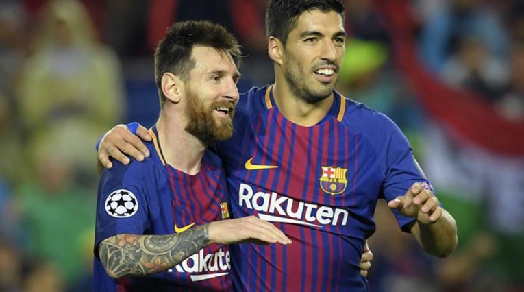 Lionel Messi y Luis Suárez en el Barcelona