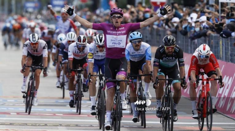 Arnaud Démare, ganador de la camiseta de puntos en el Giro de Italia
