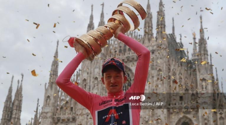 Tao Geoghegan Hart, ciclista del Ineos campeón del Giro de Italia